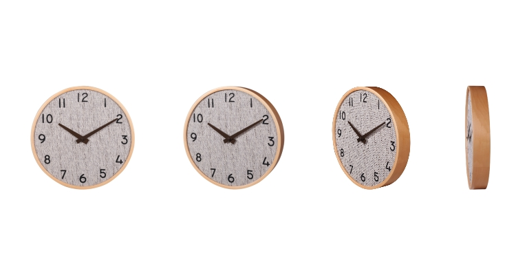Wall Clock with Wooden Case
