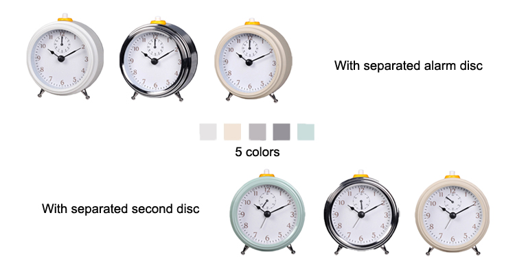 Home Decor Metal Alarm Clock