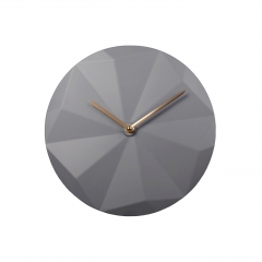 Plastic wall clock with 3D dial