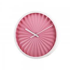 Metal wall clock with painting case