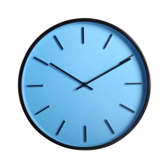 Metal quartz wall clock