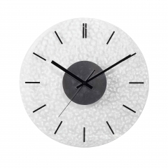 Plywood quartz wall clock